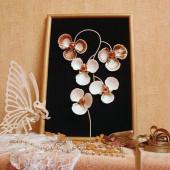 Độc đáo bức tranh treo tường được gắn từ vỏ sò