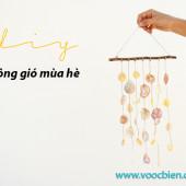 Handmade chuông gió mùa hè bằng vỏ ốc biển