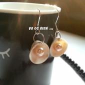 Handmade bông tai vỏ sò kết hợp ngọc trai
