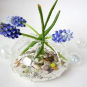 Handmade lọ cắm hoa vỏ ốc làm quà tặng độc đáo
