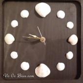 Cách làm một chiếc đồng hồ vỏ sò đơn giản