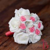 Hoa cưới cầm tay vỏ sò ốc Coral Mini HC08