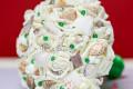 Hoa cưới cầm tay vỏ sò ốc Emerald Green HC05