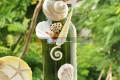 Lọ thủy tinh màu đính vỏ ốc (30×6) LOM306_03