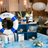 Trang trí tiệc cưới phong cách biển Quang Huy & Tích Thùy