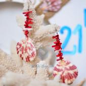 Bông tai san hô đỏ & sò điệp BTVO_05