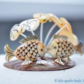 Cá chép đôi làm từ vỏ sò ốc QLN_18
