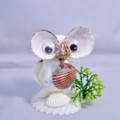 Chim cú mèo nhí vỏ sò ốc QLN_41