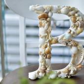 Ký tự chữ đính vỏ sò ốc – B