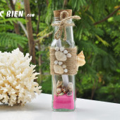 Lọ thủy tinh cát vỏ ốc 15×5 MB155_03 (message bottle)