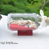 Lọ thủy tinh cát & vỏ ốc đế gỗ (10×5) LCDG105_03