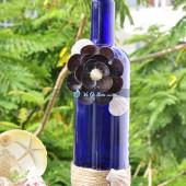 Lọ thủy tinh màu đính vỏ ốc (30×7) LOM307_03
