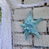 Lưới trắng trang trí vỏ sò ốc dây 1mm