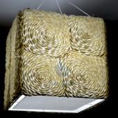 Đèn treo trần đính vỏ sò ốc hoa hồng (vuông)