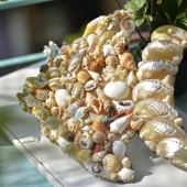 Tranh cá vàng vỏ sò ốc TO25