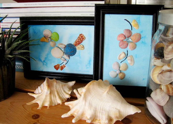 Ghép tranh từ vỏ sò thật sinh động