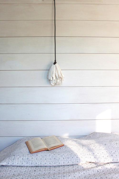 Và đây là thành quả của chúng ta, đèn ngủ từ vỏ ốc móng tay