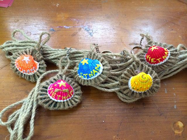 ngộ nghĩnh với handmade vỏ sò