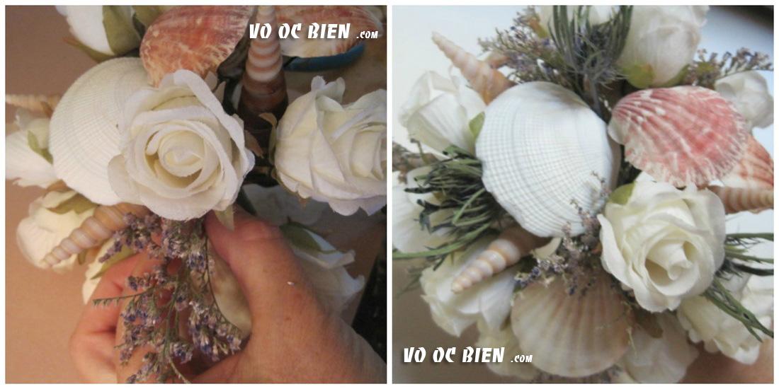 thêm một vài họa tiết để làm nổi bật lên bó hoa của ban