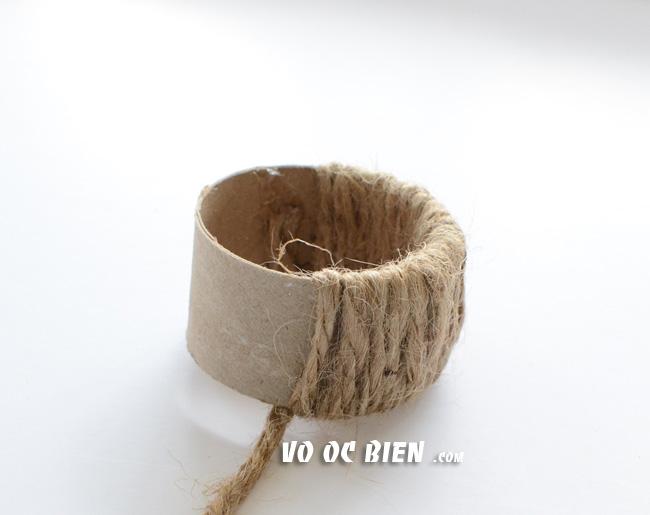quấn dây bố xung quanh lõi giấy