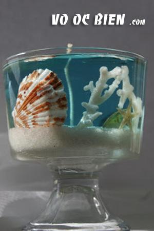 bạn có thể kết hợp cát và vỏ sò