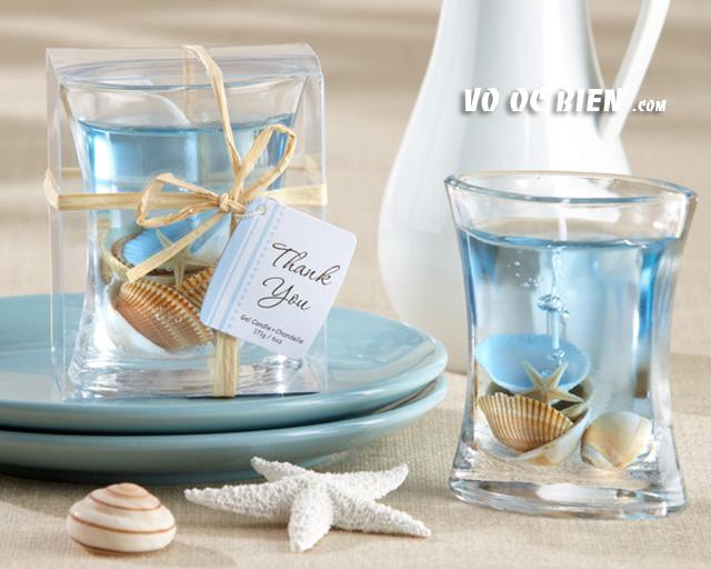 Handmade nến biển cho đám cưới biển