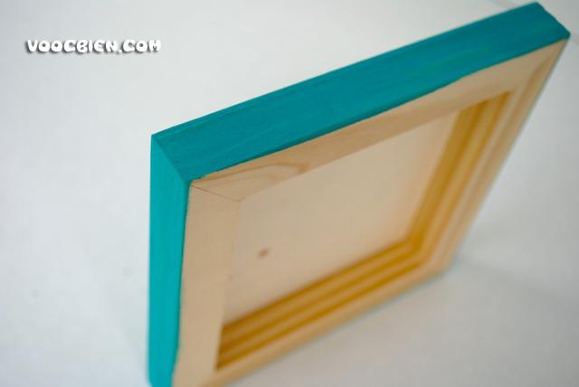 và bạn không nện quên sơn phần viền xung quanh khung gỗ