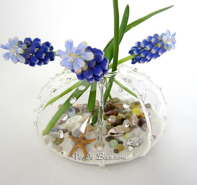 Handmade lọ cắm hoa vỏ ốc quà tặng độc đáo