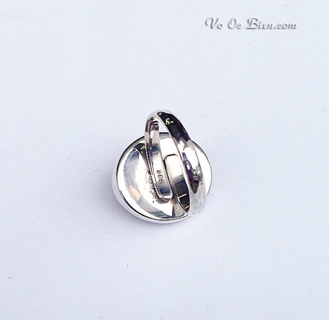 Handmade nhẫn đeo độc đáo với vảy ốc xà cừ