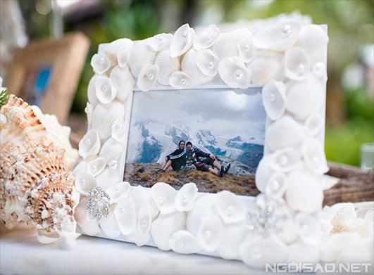 Đám cưới phong cách biển tone màu xanh nước biển