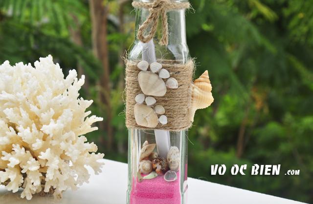 Lọ thủy tinh cát vỏ ốc 15×5 MB13 (message bottle)