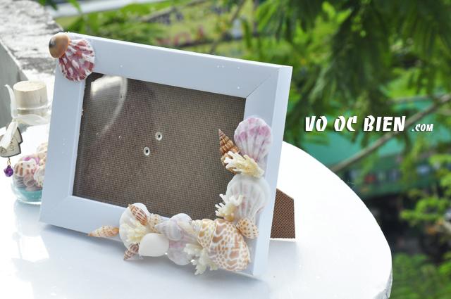 Khung ảnh vỏ sò vỏ ốc (10x15) KA14