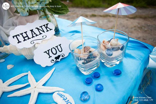 Tiệc cưới phong cách biển ở Bến Tre Uyên & Thanh