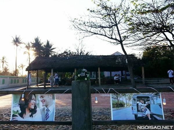 Nơi tổ chức đám cưới của Phương Vy ngập tràn hình ảnh lãng mạn của cô và chú rể Sean Trace. Ảnh: Thảo Ngô.