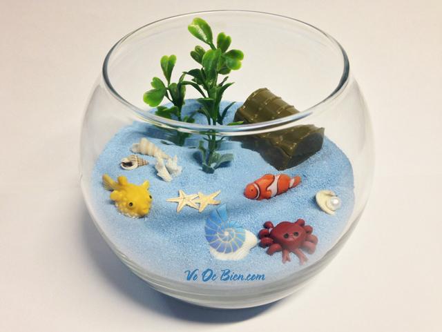 Cát biển nhuộm màu trang trí