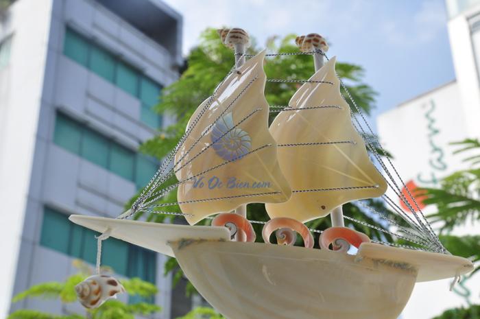 Thuyền buồm vỏ ốc nhỏ TB09_T