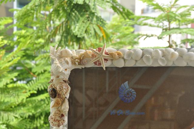 Khung ảnh lớn vỏ sò vỏ ốc (50×70) KA19. (hình chụp tại VoOcBien.com)