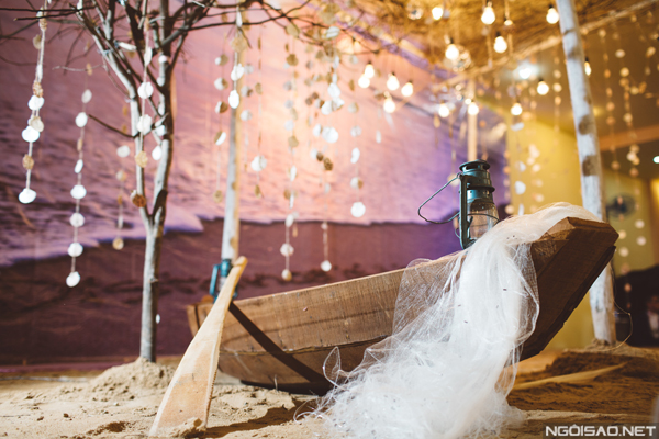 Tiệc cưới phong cách biển cầu kỳ Hào & Tiên