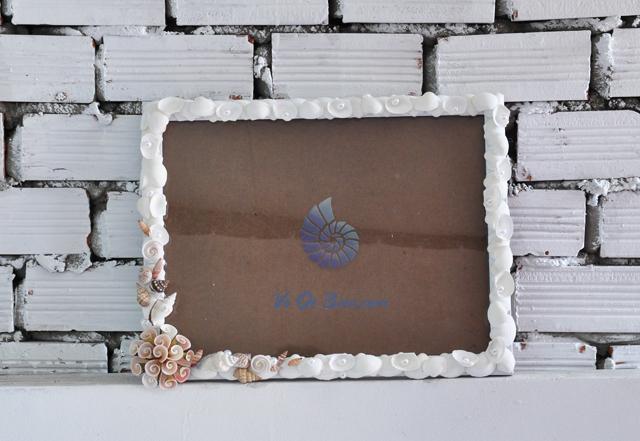 Khung ảnh vỏ sò vỏ ốc (30x40) KA40 - hình chụp tại VoOcBien