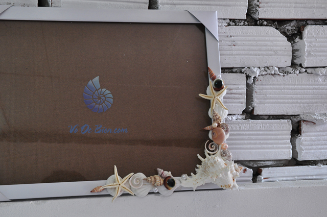 Khung ảnh vỏ sò vỏ ốc (30x40) KA41 - hình chụp tại VoOcBien