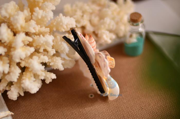 Kẹp cài tóc vỏ sò vỏ ốc KCT08 - hình chụp tại VoOcBien
