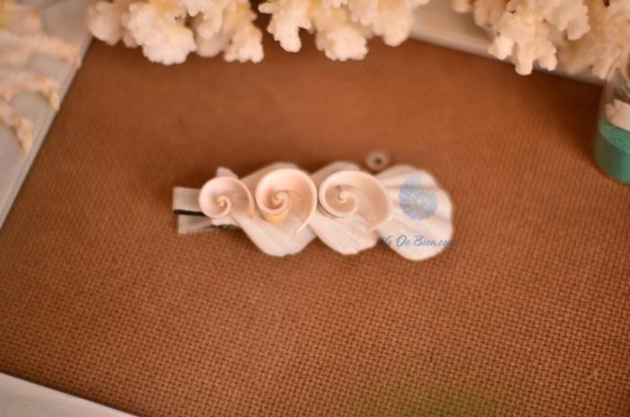 Kẹp cài tóc vỏ sò vỏ ốc KCT09 - hình chụp tại VoOcBien