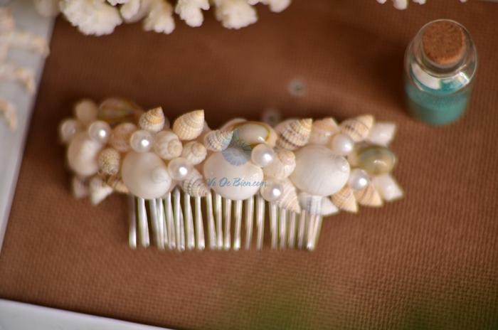 Lược cài tóc vỏ sò vỏ ốc LCT06 - hình chụp tại VoOcBien