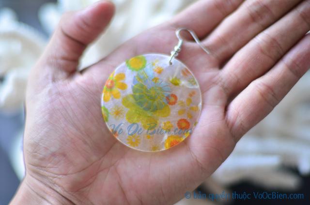 Bông tai vỏ điệp giấy mài BTVO_12 - © bản quyền hình ảnh thuộc VoOcBien.com