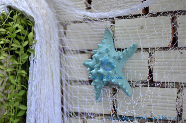 Lưới đánh cá trắng trang trí 4cm