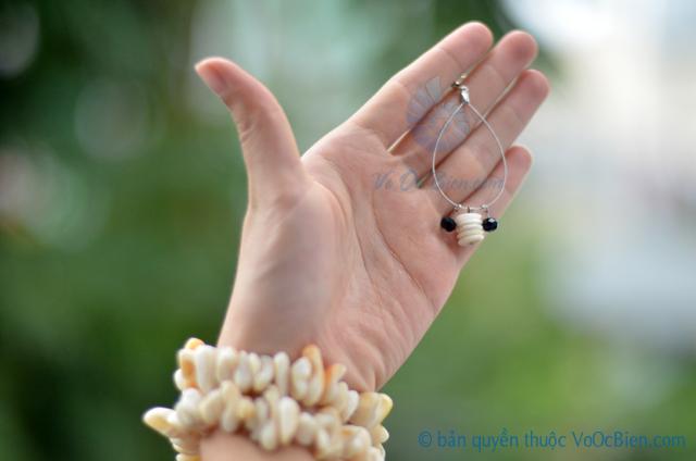 Bông tai ốc đụn xà cừ BTVO_16 – © bản quyền hình ảnh thuộc VoOcBien.com