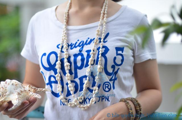 Dây chuyền vỏ sò ốc tone trắng DC05 - © bản quyền hình ảnh thuộc VoOcBien.com