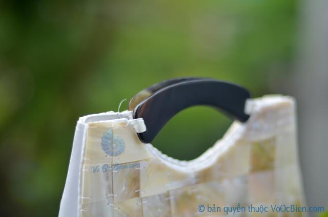 Túi xách đính vỏ trai mài xà cừ TX_05 - © bản quyền hình ảnh thuộc VoOcBien.com