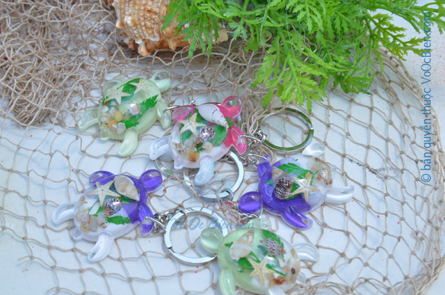 Móc khoá vỏ sò ốc - nhựa MK_02 - © bản quyền hình ảnh thuộc VoOcBien.com
