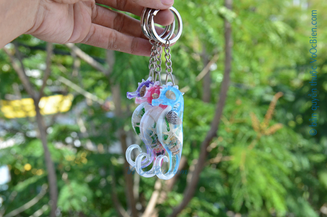 Móc khoá vỏ sò ốc - nhựa MK_03 - © bản quyền hình ảnh thuộc VoOcBien.com